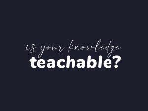 is-knowledge-teachable